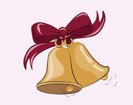 begging: First Bell call. Symbol of begging of school.Vector