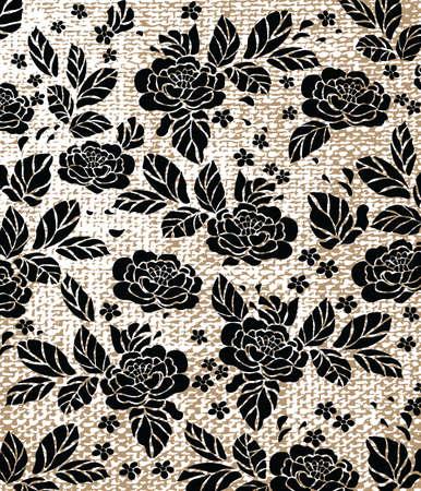 Rose patrón de fondo con textura de textiles. Vector Ilustración de vector