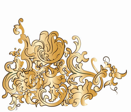 dynamic trend: Dramatic fall of baroque style ornaments. Vector Illustration