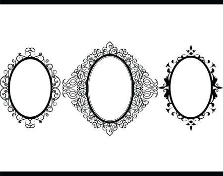 Photo frame invitation background. Vector