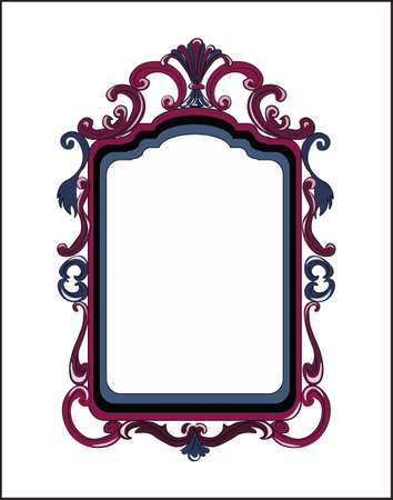 mirror and frame: Colorful Decor Mirror frame. Vector