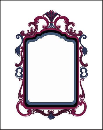 mirror frame: Colorful Decor Mirror frame. Vector