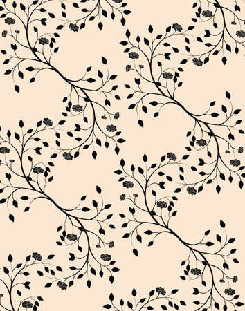 Roses ornament pattern background. Vector