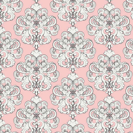 classic style: Vintage pattern with damask ornament. Vector