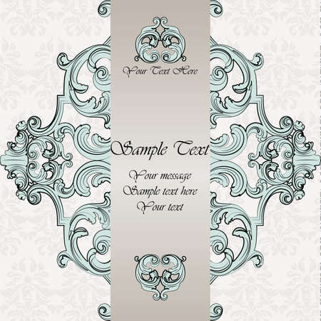 Vector vintage classic wedding invitation card imperial style 50576295 invitation card with damask royal ornament vector stopboris Gallery