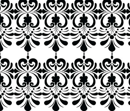 gothic style: Classic Gothic style ornament pattern in black and white. Vector