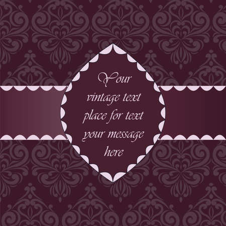 Vintage Classic Invitation with floral ornaments. Vector