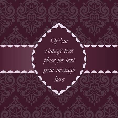 Vintage classica dell'invito con ornamenti floreali. Vettore