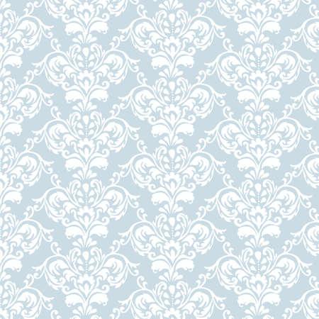 Classic elegant ornament pattern in blue. Vector