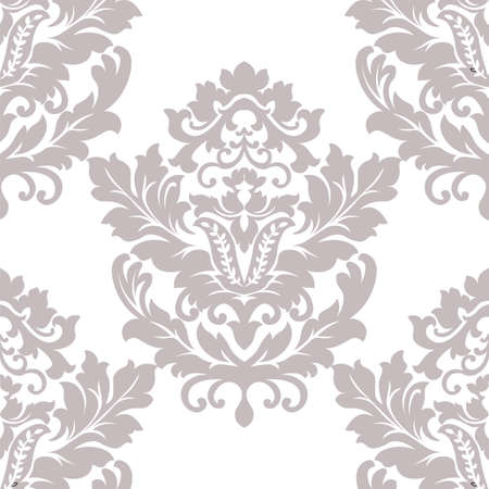 taupe: Vector floral damask pattern background. Luxury classic floral damask ornament, royal Victorian vintage texture for wallpapers, textile, fabric. Taupe color Floral element