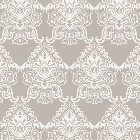 Vector Classic Baroque floral damask pattern background. Luxury classic floral damask ornament, royal Victorian vintage texture for wallpapers, textile, fabric. Taupe color