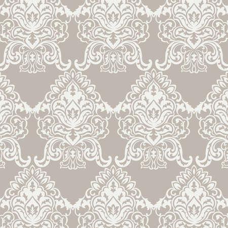 Vecteur classique baroque motif damassé floral background. ornement de luxe classique floral de damassé, royal vintage texture victorienne pour les papiers peints, textile, tissu. Couleur taupe