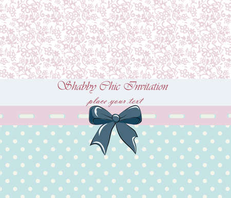 chic: Shabby chic lace invitation. Vector