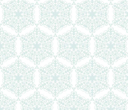 revive: Vintage stylized ornament pattern in blue. Vector Illustration