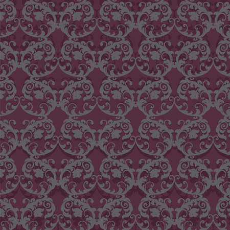 bordeaux: Classic Stylized ornament pattern in Bordeaux color. Vector