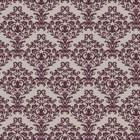 retro vintage: Vintage Royal Classic ornament pattern in Red color. Vector