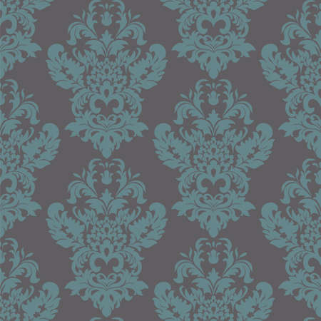 acanthus: Vintage Classic Damask acanthus leaf ornament element. Luxury texture for wallpapers, backgrounds and invitation cards. arctic blue color. Vector