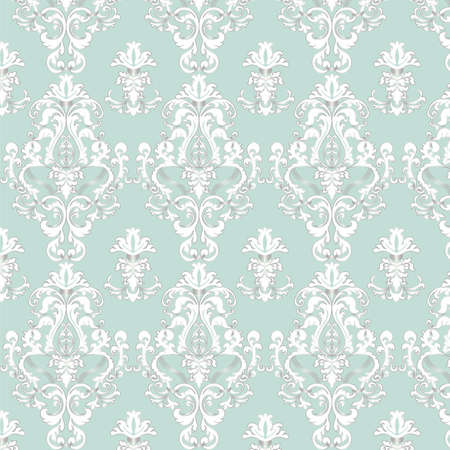 shinny: Elegant Royal shinny pattern ornament in blue color. Vector