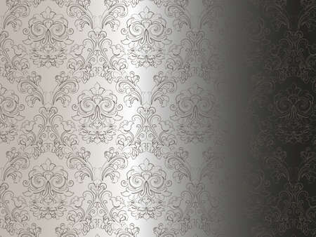 Floral ornament damask pattern. Elegant luxury texture for wallpapers, backgrounds and invitation cards. Gradient background. Vector Vector Illustration