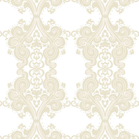 lint: Vector Vintage Damask swirl flower ornament pattern. Texture for wallpapers, backgrounds and invitation cards. Lint color Illustration