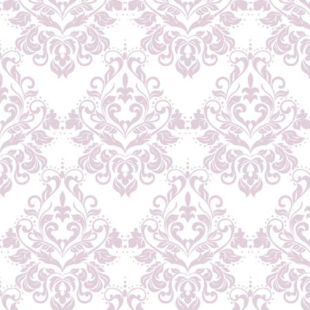 Vector floral damask ornament pattern. Elegant luxury texture for textile, fabrics or wallpapers backgrounds. Lavender color
