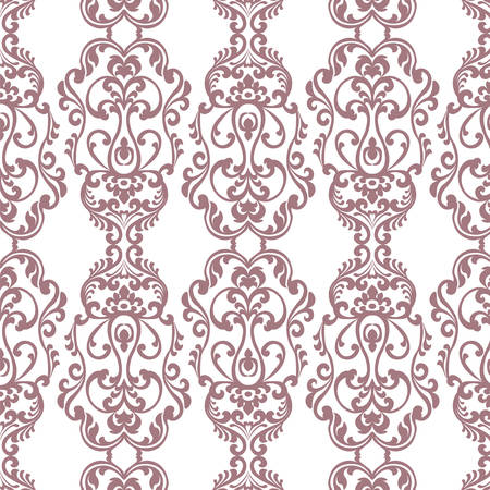 neoclassical: Vintage Damask Elegant Royal ornament pattern. Luxury texture for wallpapers, fabric, textile, design, wedding invitations, greeting cards, background, cards Red colors. Vector