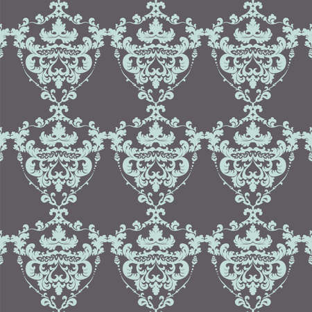 volcanic: Vintage Damask Elegant Royal ornament pattern. Luxury texture for wallpapers, fabric, textile, design, wedding invitations, greeting cards, background, cards. Tourmaline and volcanic colors. Vector Illustration