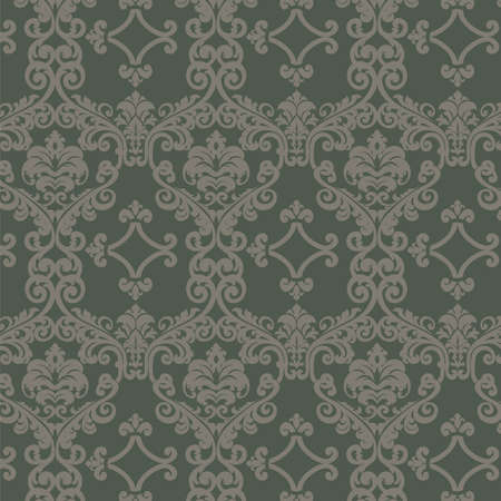 Damask ornament pattern. Elegant luxury texture for wallpapers, backgrounds and invitation cards. Vector