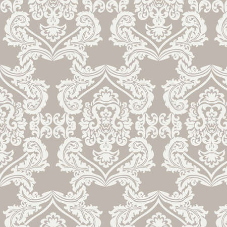 Floral ornament damask pattern. Elegant luxury texture for wallpapers, backgrounds and invitation cards. Vector
