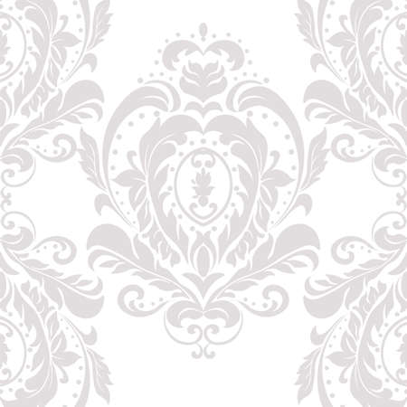 Vector Damask Pattern ornament Imperial style. Ornate floral element for fabric, textile, design, wedding invitations, greeting cards, wallpaper. Oyster pink color Vector Illustration
