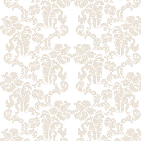 beige backgrounds: Vintage elegant lily flower ornament pattern. Luxury texture for wallpapers, backgrounds and invitation cards. White and beige colors. Vector