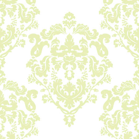 luminary: Vector Damask Classic Royal Elegant pattern ornament. Design decor element for wallpapers, fabric, textile, design, wedding invitations, greeting cards. Luminary green color