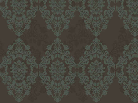neoclassical: Floral ornament pattern with stylized lily flowers . Elegant luxury texture for wallpapers, backgrounds and invitation cards. Vector