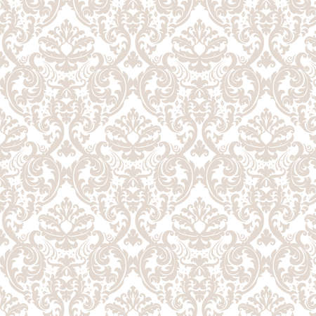 Vintage elegant lily flower ornament multiple pattern. Luxury texture for wallpapers, backgrounds and invitation cards. White and beige colors. Vector
