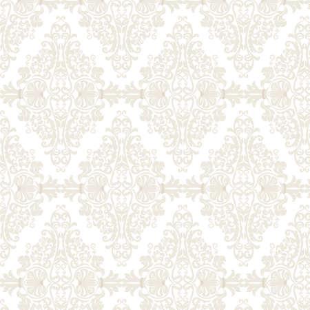 Vector Damask Pattern ornamento stile imperiale. elemento ornato floreale per il tessuto, tessile, progettazione, partecipazioni di nozze, biglietti di auguri, carta da parati. Archivio Fotografico - 58421979