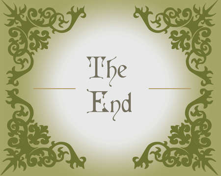 gothic style: The end text in Gothic Style background with ornaments. Vector