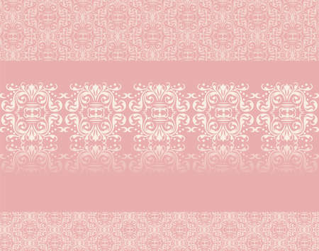 quartz: Lace ornament pattern on rose quartz background. Vector Illustration