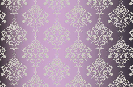 shinny: Vector Baroque ornament pattern on shinny gradient background. Design for wallpapers, textures or invitation card. Purple and gold color