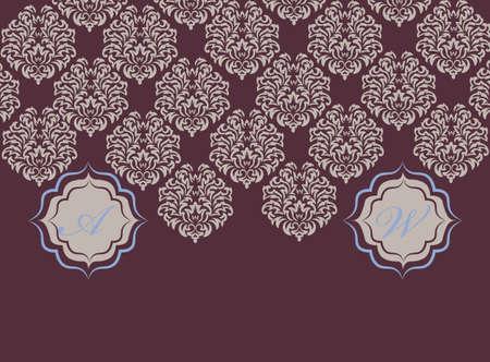 opal: Vector card ornamental floral elements. Elegant decoration, greeting card, wedding invitation or announcement, template. Opal blue