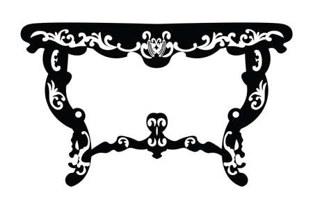 luxurious: Vintage Baroque Rich table with luxurious ornaments. Vector