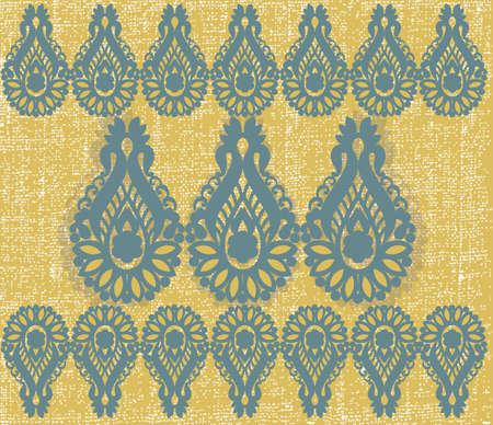 scroll border: Vintage frame scroll ornament engraving border. Floral retro pattern antique oriental style foliage swirl decorative design element. Filigree calligraphy vector damask Illustration