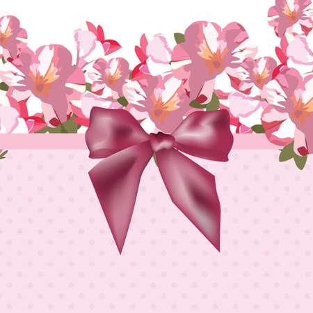 flores de color rosa ramo tarjeta con arco brillante. Flores de la acuarela ilustración. ilustración Tarjeta de visita elegante de la vendimia por día, cumpleaños, boda, ceremonia de la Mujer, Aniversario Ilustración de vector