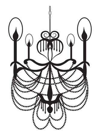 neoclassic: NeoClassic Modern chandelier on white background. Luxury decor accessory design. Vector illustration sketch Illustration