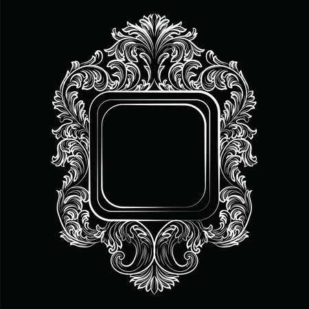 baroque room: Baroque Rococo Exquisite Mirror frame decor. Vector French Luxury rich carved ornaments and Wall Frames. Victorian Royal Style frame