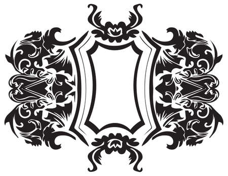decor: Baroque Ornament Decor element. Vector decor frame Illustration