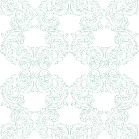 opal: Vector Vintage floral acanthus Pattern ornament Imperial style. Ornate floral element for fabric, textile, design, wedding invitations, greeting cards, wallpaper. Opal blue color