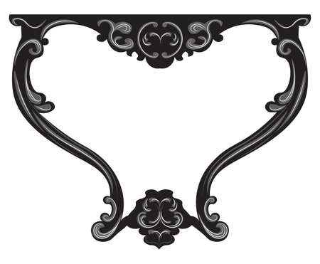 baroque furniture: Vector Baroque Table furniture. Vector sketch furniture with luxury ornaments
