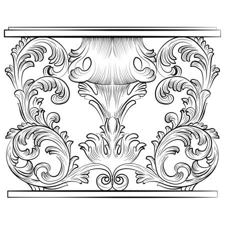 refine: Rich Baroque Table. French Luxury rich carved ornaments furniture. Vector Victorian Royal  Style furniture