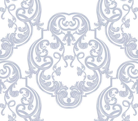 glamorous: Luxurious Glamorous Baroque Rococo Ornament pattern. Vector French Luxury rich carved ornaments for fabric, textures, wallpaper. Victorian luxury Style pattern ornament Illustration