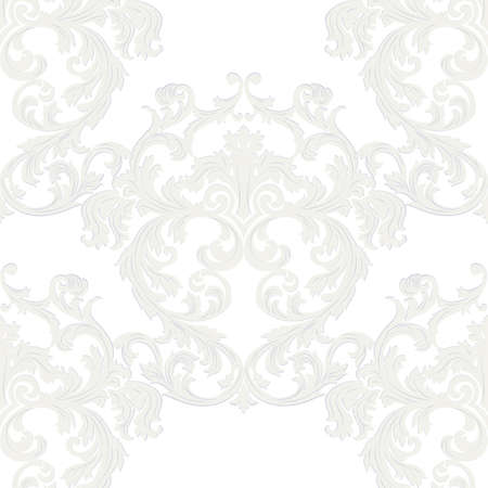 taupe: Vector Royal floral damask baroque ornament pattern element. Elegant luxury texture for textile, fabrics or wallpapers backgrounds. taupe color